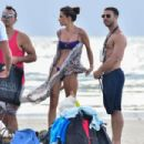 Alessandra Ambrosio in Blue Bikini – Photoshoot on the beach in Florianopolis