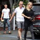 Claire Holt with her family out to lunch in West Hollywood - 454 x 499