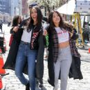 Gina Rodriguez and Rosario Dawson – On the 'Someone Great' set in NY - 454 x 566