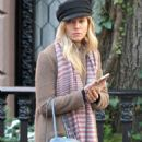 Sienna Miller in Long Coat out in Manhattan - 454 x 681