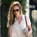 Minka Kelly leaves the salon on Melrose in West Hollywood, Ca on July 20, 2012
