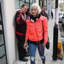 Kimberly Wyatt in Red Jacket – Out in London - 454 x 659