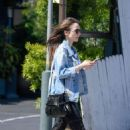 Lily Collins – Out and about in LA