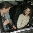 Lily Collins and Thomas Cocquerel Spotted at Craig's Restaurant (February 5, 2014)