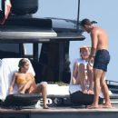 Vanessa and Stella Hudgens – on a yacht in Porto Cervo – Italy