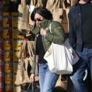 Shannen Doherty in Green Jacket – Shopping in Malibu