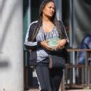 Laila Ali – Shopping candids in Los Angeles - 454 x 701