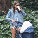 Irina Shayk in Jeans Shorts out in Pacific Palisades - 454 x 680