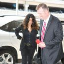Salma Hayek: departs LAX in Los Angeles
