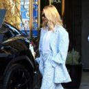 Hailey Bieber – Exits The Nine Zero One Hair salon in West Hollywood