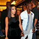 Kim Kardashian and Kanye West going to see 'Book of Mormon' on Broadway in New York City (July 28)