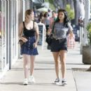 Kiernan Shipka and Camila Mendes – Shopping in Los Angeles