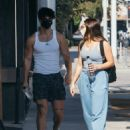 Addison Rae and Bryce Hall – Seen on Thanksgiving at The Gym in West Hollywood