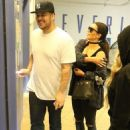 Blac Chyna, Rob Kardashian, and Kim Kardashian Visit an OBGYN'S Office in Los Angeles, California - April 26, 2016 - 454 x 627