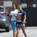 Christina Milian in Shorts – Out in Studio City - 454 x 578