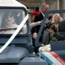 Kit Harington and Rose Leslie – Arriving at their wedding in Scotland - 454 x 289