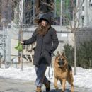 Shailene Woodley – Walking her dog in snowy Montreal