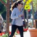 Jennifer Garner in Tights hitting the gym in Brentwood
