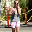 Britney Spears At Starbucks In Calabasas