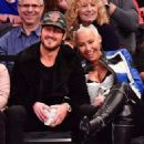 Amber Rose and Val Chmerkovksiy at The Knicks Game at Madison Square Garden in New York City - January 16, 2017  - December 9, 2016 - 454 x 326