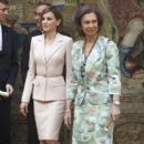 """Queen Letizia of Spain attends the """"Royal Trust Disability Reina Sofia 2014 Awards"""" (April 29, 2015)"""