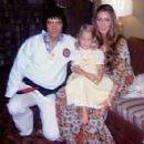 Elvis Presley and Linda Thompson with Lisa Marie