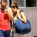 Eva Mendes - Has A Laugh With Her Personal Trainer While At The Gym, 22. 5. 2009.
