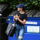 Lucy Hale in Ripped Jeans – Out in Studio City