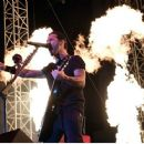 Frontman Sully Erna of Godsmack performs during the Las Rageous music festival at the Downtown Las Vegas Events Center on April 21, 2017 in Las Vegas, Nevada - 454 x 362