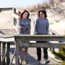 "Kristen Stewart and Julianne Moore on the set of ""Still Alice"" (March 21, 2014)"