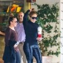 Jennifer Lopez – Spotted in satin gym pants in LA