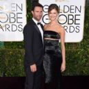 Singer Adam Levine and model Behati Prinsloo attend the 72nd Annual Golden Globe Awards at The Beverly Hilton Hotel on January 11, 2015 in Beverly Hills, California - 406 x 594