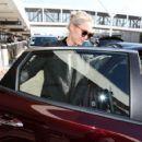 Pom Klementieff at LAX International Airport in LA - 454 x 421