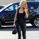 Chrishell Stause – In all black seen at the DWTS studio in Los Angeles