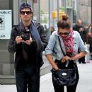 Nina Dobrev and her boyfriend, Ian Somerhalder were spotted leaving their hotel in the SoHo neighborhood of New York City yesterday afternoon, May 8