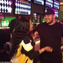 Blac Chyna and Rob Kardashian Attend Khloe Kardashian's Birthday Party at Dave & Busters in Los Angeles, California - June 27, 2016 - 454 x 337