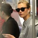 Karlie Kloss Rides The Subway In Nyc