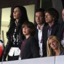 Mick Jagger and L'Wren Scott at the Olympics