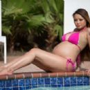 Tila Tequila Posing In A Bikini At Pool In Galveston