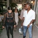 Kim Kardashian: lunch at up scale Bal Harbor Restaurant in Miami