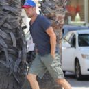 Duhamel is seen stopping by a gas station in Brentwood, California on July 29, 2015