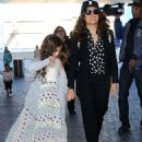 Salma Hayek Lax Airport In La