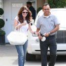 Lisa Vanderpump is seen leaving Epione Cosmetic Dermatology in Beverly Hills, California on May 1, 2015 - 454 x 556