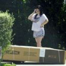 Ariel Winter – gets an outdoor storage shed delivered to her house in LA