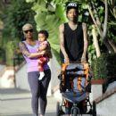 Amber Rose and Wiz Khalifa take their son Sebastian for a walk in Los Angeles, California - January 28, 2014