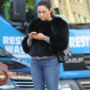Kelly Brook Street Style Out In London