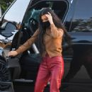 Kourtney Kardashian – Seen in red leather pants at Nobu in Malibu