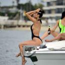 Draya Michele in Black Swimsuiti in Newport Beach - 454 x 495