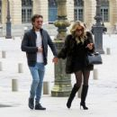 Sylvie Meis and her boyfriend out in Paris - 454 x 364
