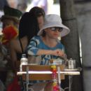 Debra Messing Walks Her Poodle In The L.A. Sun, 2008-06-29